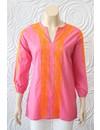Madison Mathews Tunic With Embroidered Sleeve