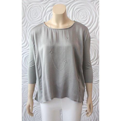 Go Silk Go Silk Hybrid Top with 3/4 Sleeve