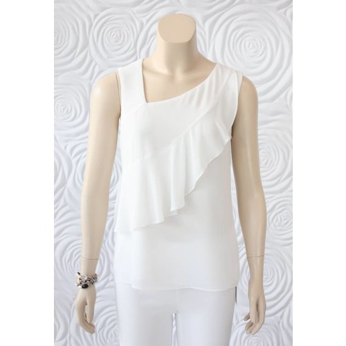 Donna Degnan Donna Degnan Short Sleeve Top with Layered Front