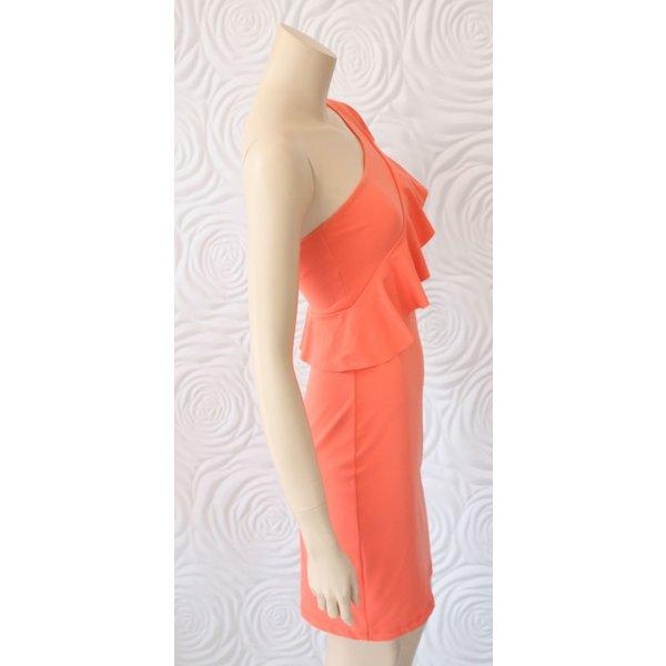 Susana Monaco One Shoulder Dress with Ruffle