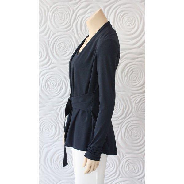 Iris Jacket with Tie Belt Detail