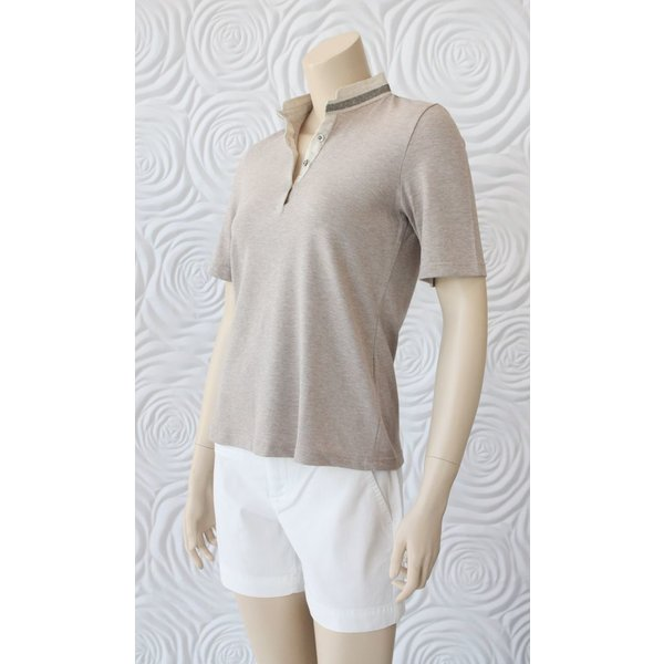 GranSasso Polo with Sequin Trim