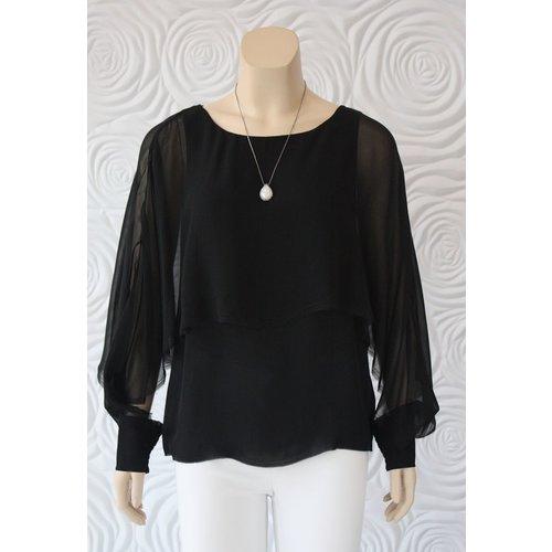 Go Silk Go Silk Multi Layered Long Sleeve Top