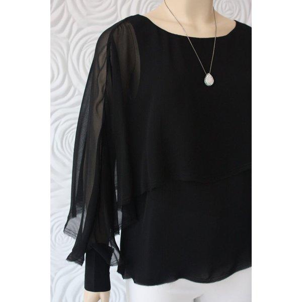Go Silk Multi Layered Long Sleeve Top