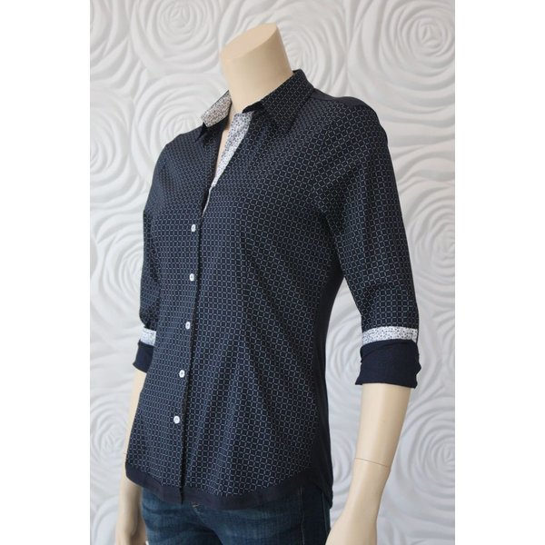 Valentina Tailored Blouse With Knit Back
