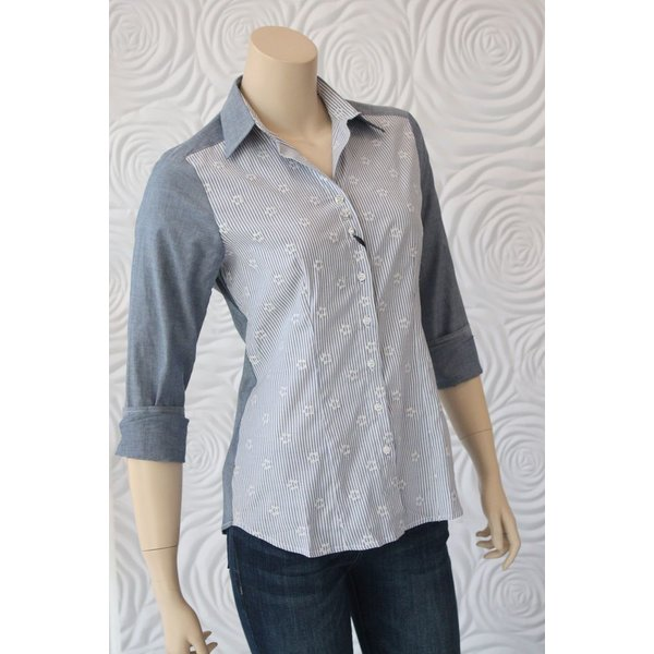 Valentina Tailored Chambray Blouse
