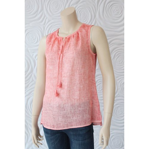 Ecru Ecru Sleeveless Top With Tassle