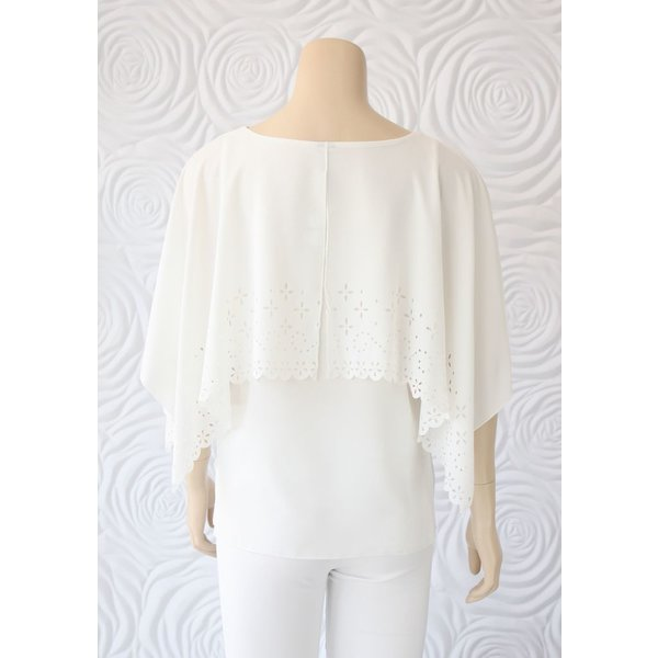 Kay Celine Layered Top With Flutter Sleeve