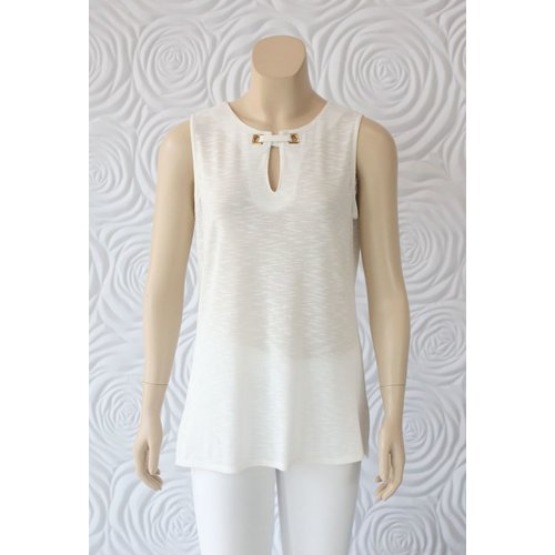 Kay Celine Kay Celine Tank With Key Hole And Gold Hardware at Neckline