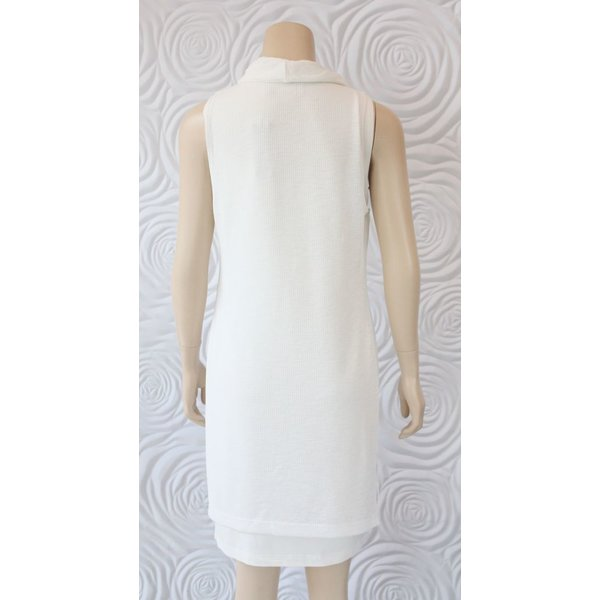 209 West Sleeveless Knit Dress With Cowl Neck Line