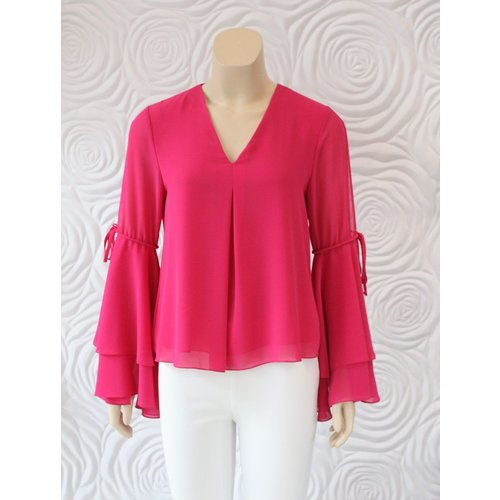 Donna Degnan Donna Degnan Bell Sleeve Blouse