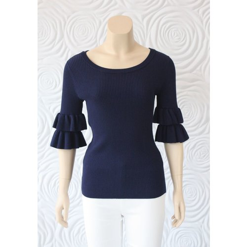 Zero Degrees Celsius Zero Degrees Ruffle Sleeve Top