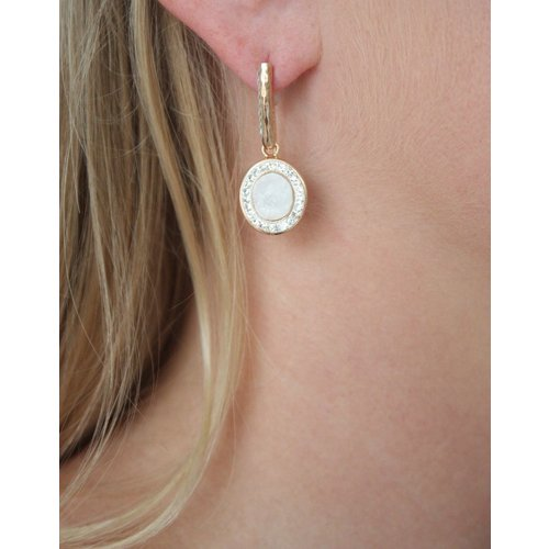 La Costa La Costa Loop Oval Gem Earring
