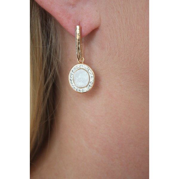 La Costa Loop Oval Gem Earring