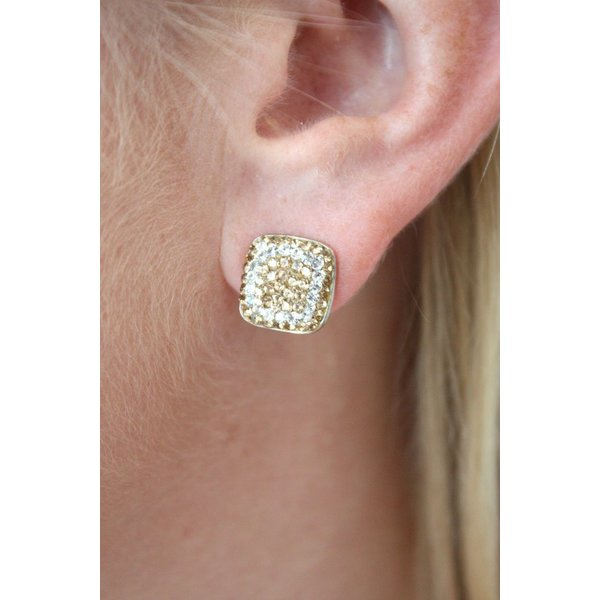 La Costa Crystal Square Stud