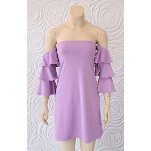 Susana Monaco Susana Monaco Ruffle Sleeve Dress