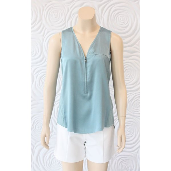 Go Silk Sleeveless Zip Up Tank