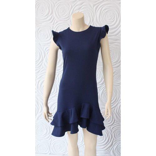 Susana Monaco Susana Monaco Sleeveless Ruffle Hem Dress