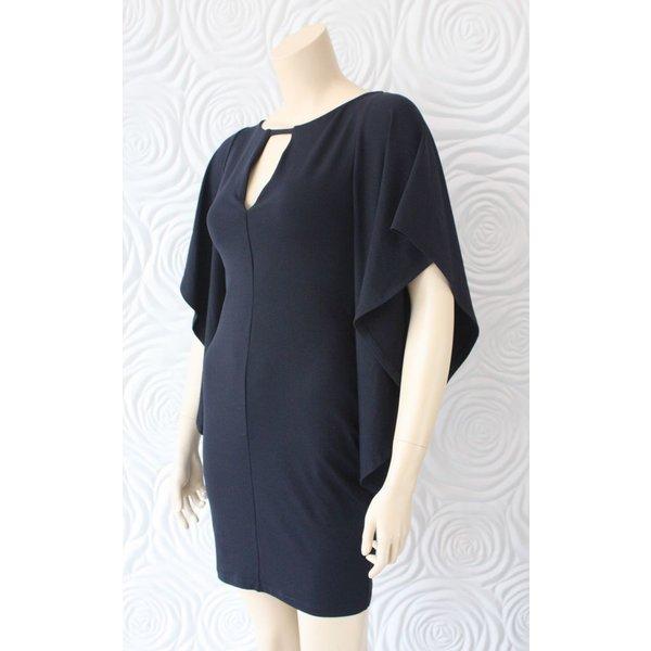 Susana Monaco Flutter Sleeve Mini Dress
