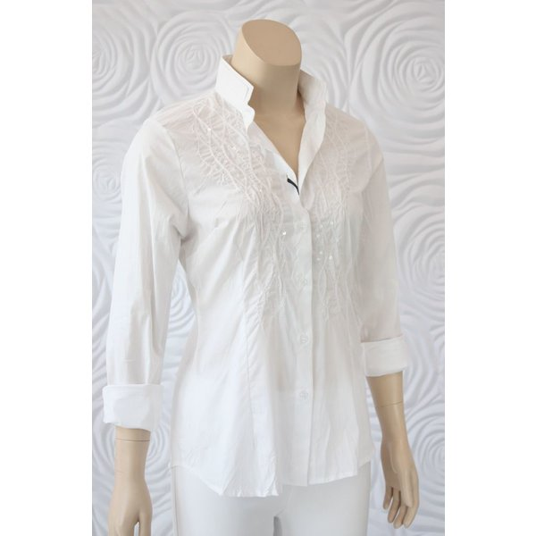 Valentina Stretch Button Down Blouse