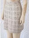 D Exterior Tweed Skirt with Slight Sequin Detail