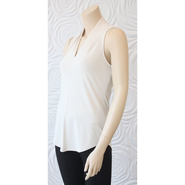 Iris Ivory Sleeveless Jersey Top