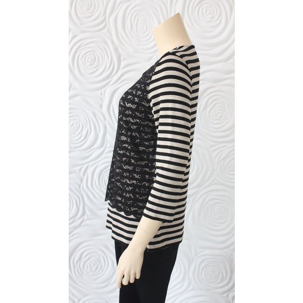 Gerry Weber Stripe and Lace Top