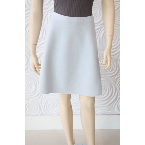 D Exterior D Exterior Cashmere Reversible Skirt Grey/Light Blue