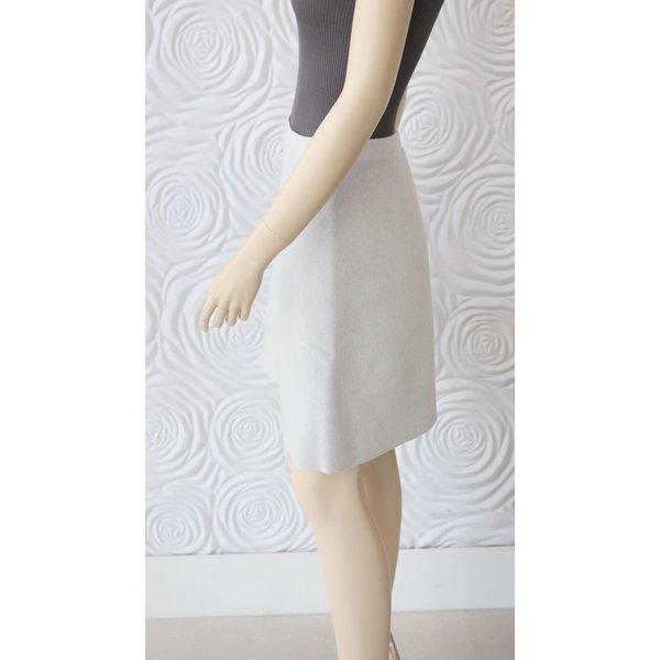 D Exterior Cashmere Reversible Skirt Grey/Light Blue