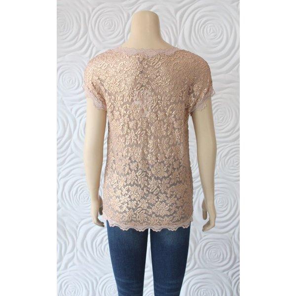 Rosemunde Short Sleeve T-Shirt  with Lace