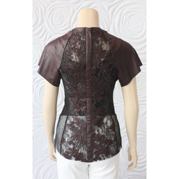 Byron Lars Leather Look Blouse