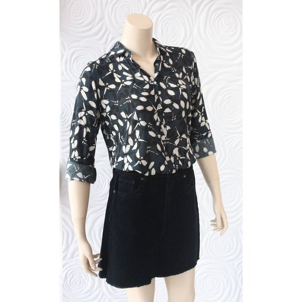Hartford Dragonfly Button Down Blouse