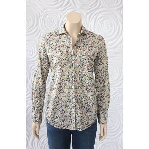 Hartford Hartford 100% Cotton Button Down Blouse with Liberty Print
