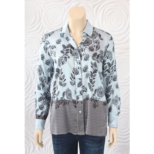 Max Volmary Max Volmary SIlk Button Down Blouse With Sparkle Trim