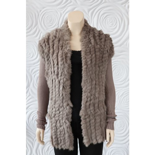 Rino & Pelle Rino & Pelle Fur Sweater with Ribbed Sleeve