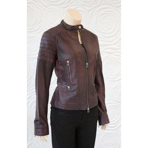 Rino & Pelle Rino & Pelle Brown Leather Moto Jacket