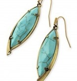 Max Earring - Antique Brass Variegated Turquoise