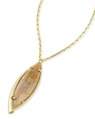 Milla Necklace - Gold Crackle Brown Mother of Pearl