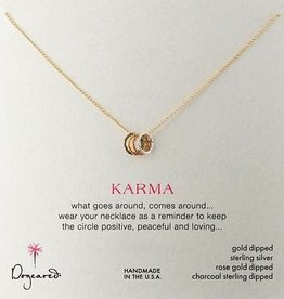 Tiny Sparkle Karma Necklace in Mixed Metal