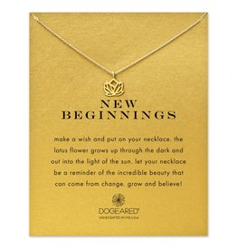 New Beginnings Lotus Necklace in Gold