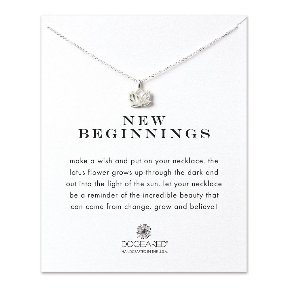 New Beginnings Lotus Necklace in Silver