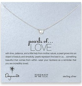 Pearls of Love Necklace in Silver