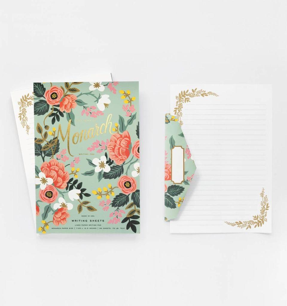 Notepad Mint Birch Monarch Writing Pad