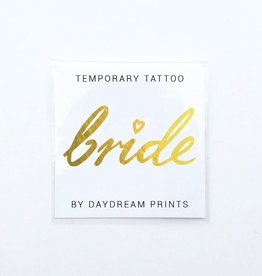Wedding Bride's Bitches Gold Tattoo - Individual