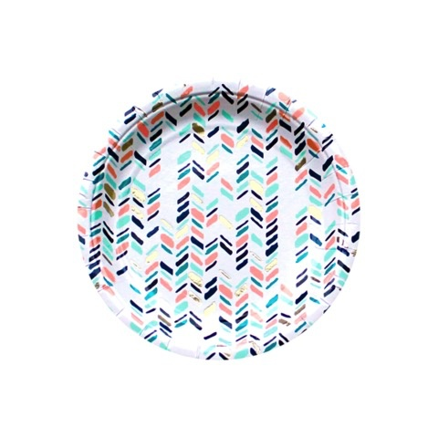 Plate Modern Camp - Modern Chevron Small Party Plates