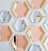 Plate Goddess - Blush Hexagon Large Party Plates