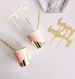 Goddess - Blush Colorblock Party Cups