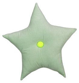 Velvet Star Cushion - Mint