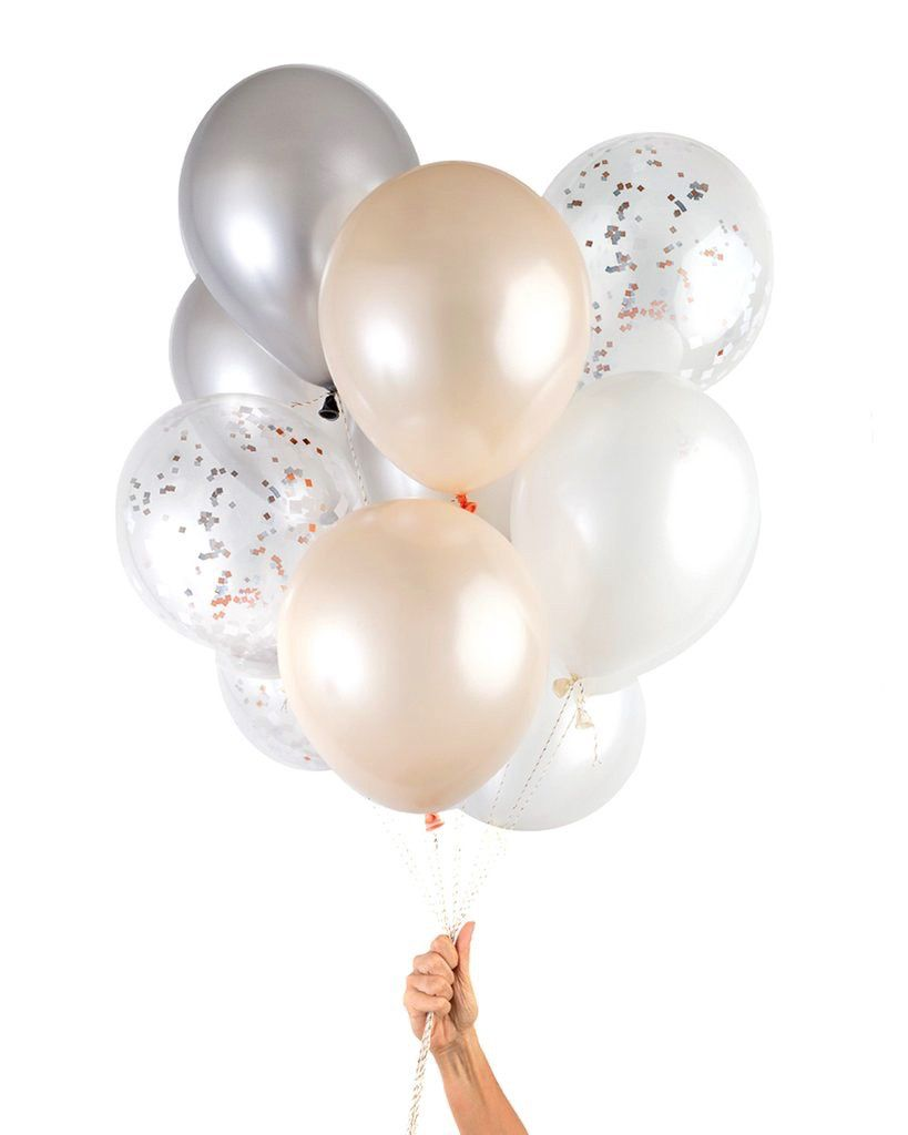 Balloon Party Balloons: 12 Blush Copper Mix
