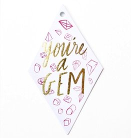 Gift Enclosure You're A Gem Gift Tags - Set of 10